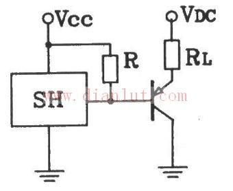 霍尔传感器与集电极输出接口电路